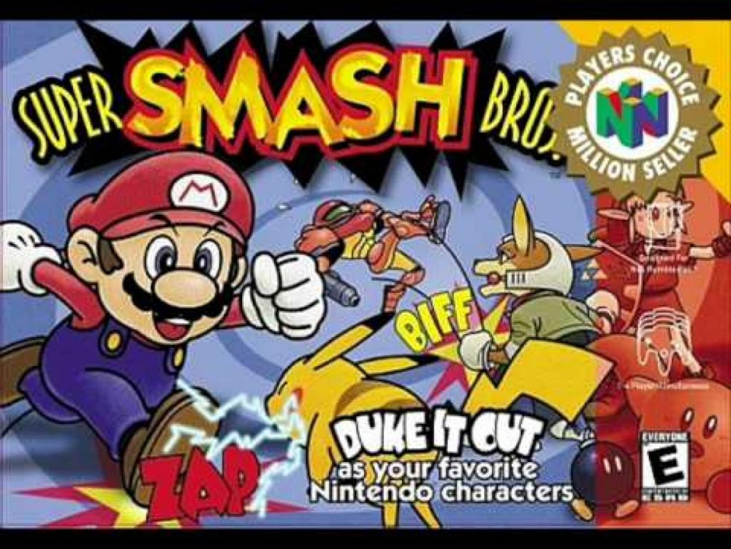 Super Smash Brothers N64 Verpackung Cover