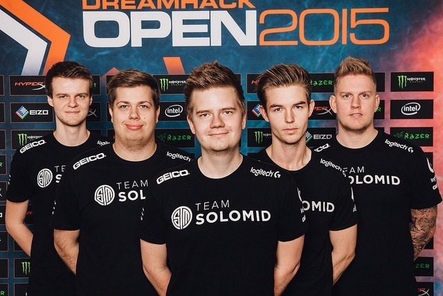Team SoloMid CS:GO, Dänemark, bei der DreamHack, Teamfoto